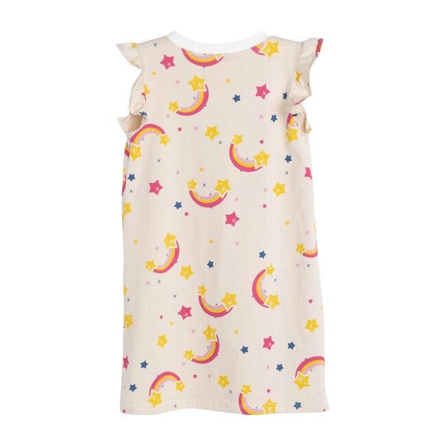 Rainbow Flutter Sleeve Loungewear Dress