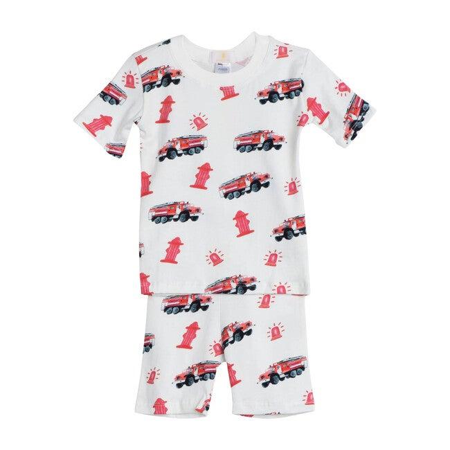 Firetrucks Short Pajama Set