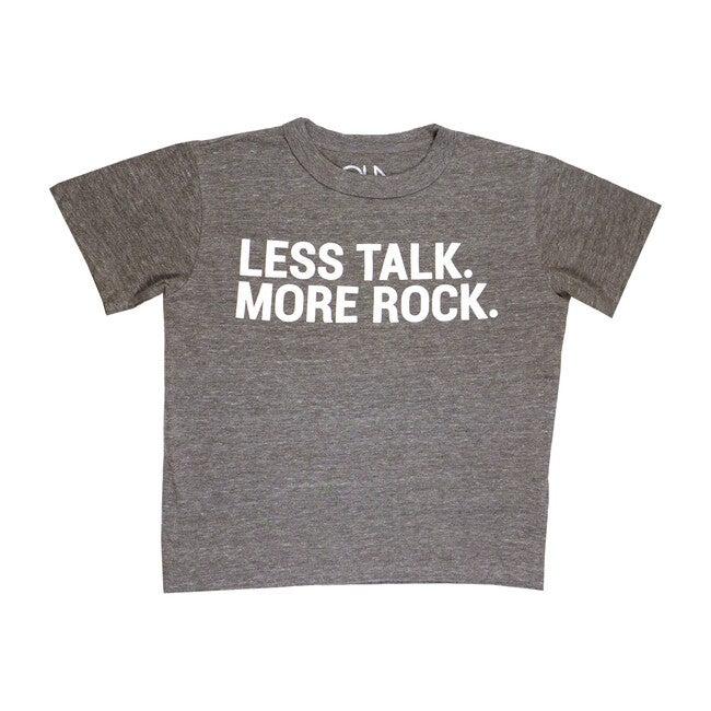 Less Talk More Rock Tee, Streaky Grey
