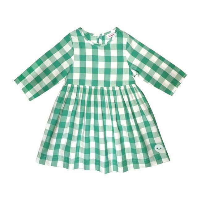 Winnie Dress, Forest Green Buffalo Check