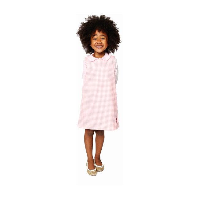 Tuni Dress, Pink Houndstooth