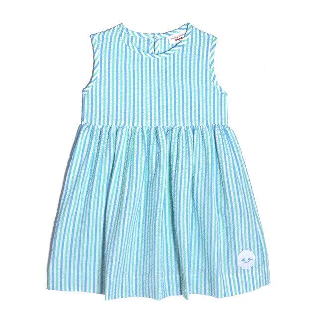 Pinny Dress, Seaside Seersucker - Dresses - 1