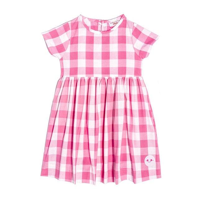 Sunday Dress, Bubblegum Gingham - Dresses - 1