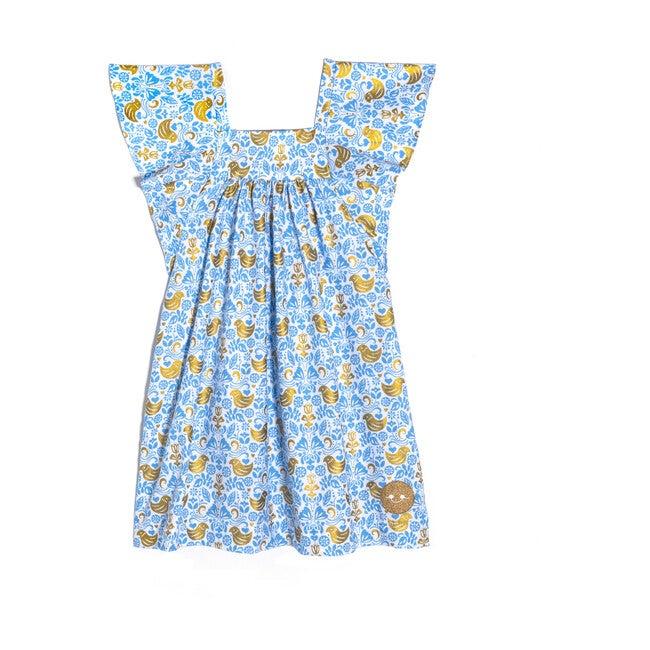 Flutter Dress, Golden Chickadee - Dresses - 1