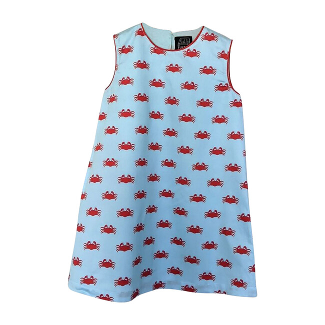 Chilli Crabs Short Sleeve Shift Dress, Blue