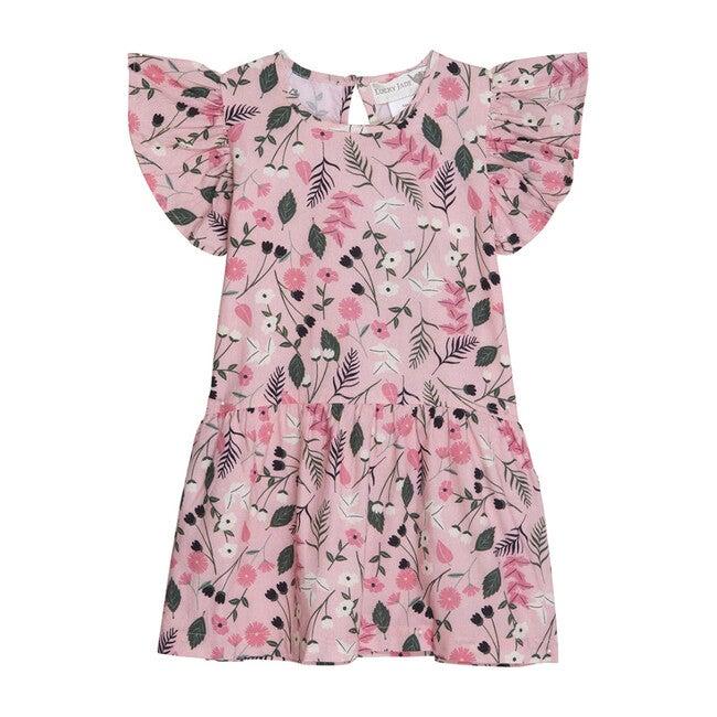 Darling Dress, Pink Floral Vines