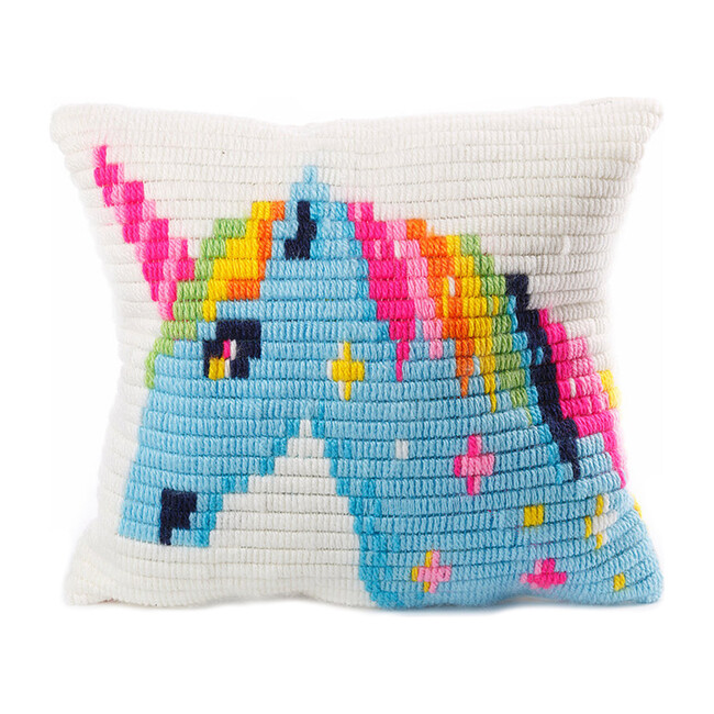 Pillow Needlepoint Kit, Unicorn