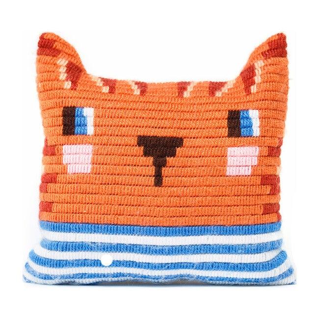 Pillow Needlepoint Kit, Kitten