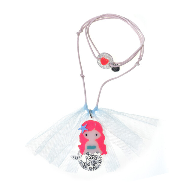Mermaid Neon Pink Necklace