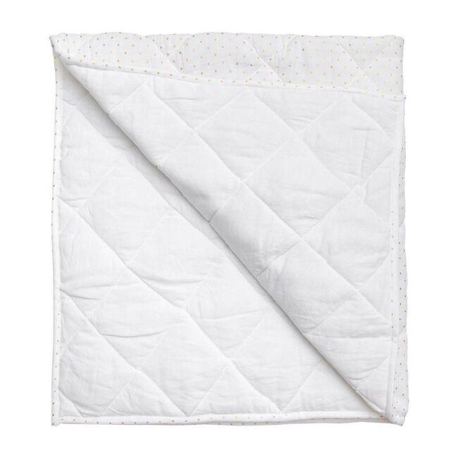 Play Mat Quilt, Gold Spot & White Linen