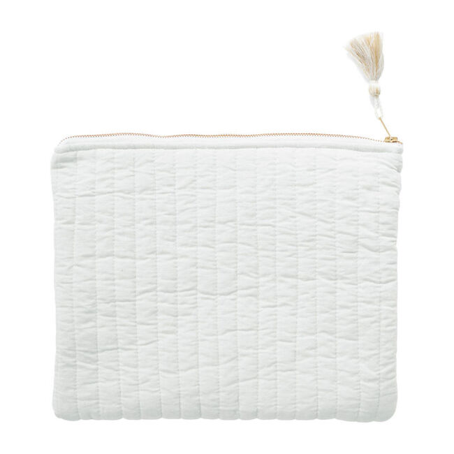 Linen Pouch, French Grey