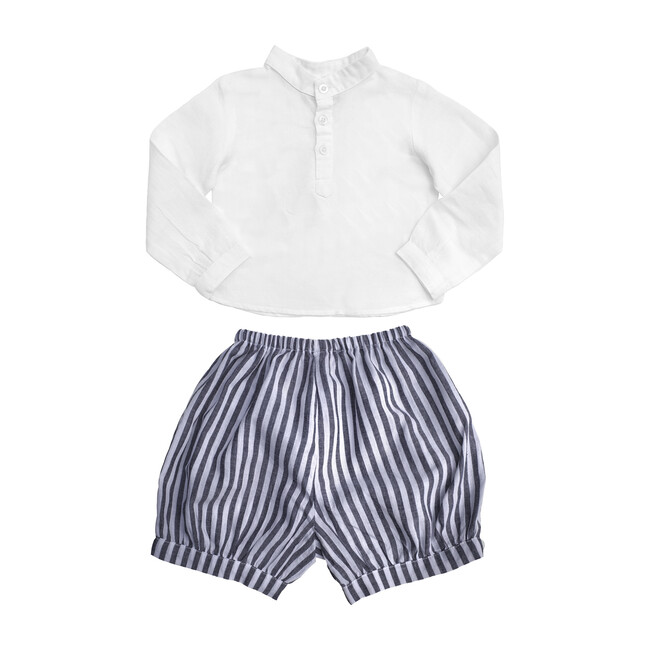 White Shirt and Harbor Island Stripe Short Gift Set