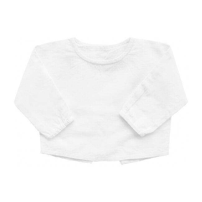 Double Button Shirt, White Linen