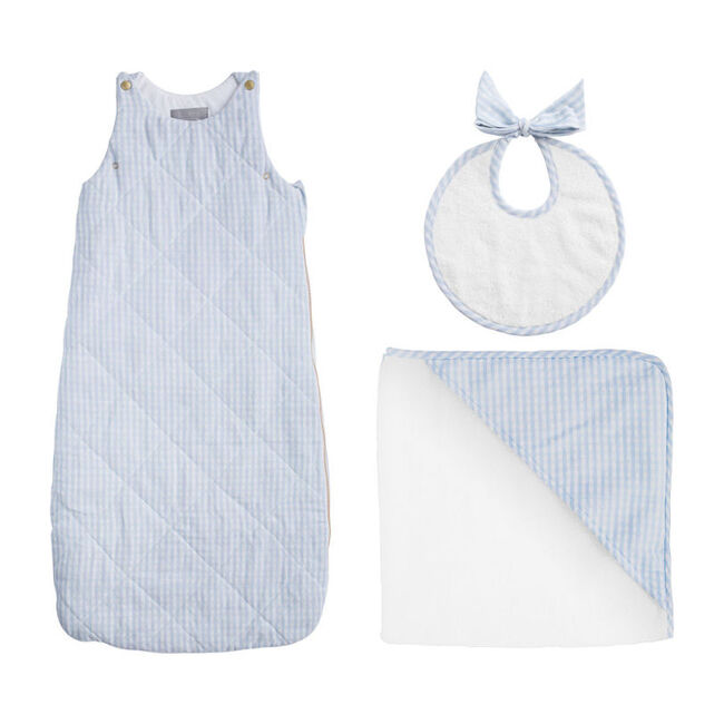 Bedtime Gift Set, Pale Blue Gingham - Mixed Apparel Set - 1