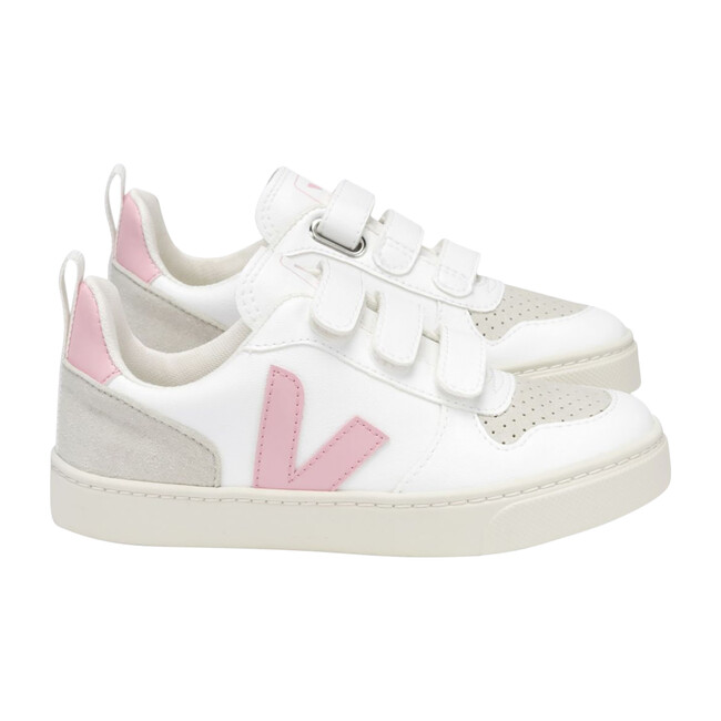V-10 Velcro Sneakers Pink, White - Sneakers - 1