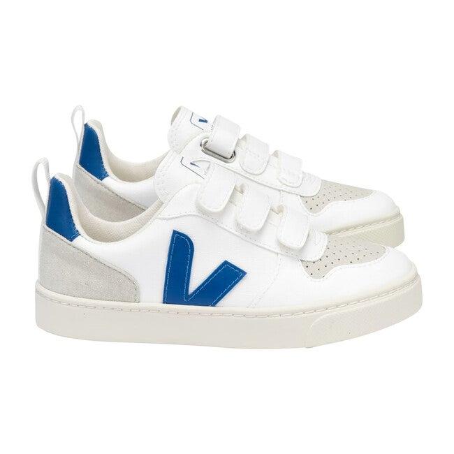V-10 Velcro Sneakers Blue, White