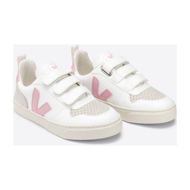 V-10 Velcro Sneakers Pink, White