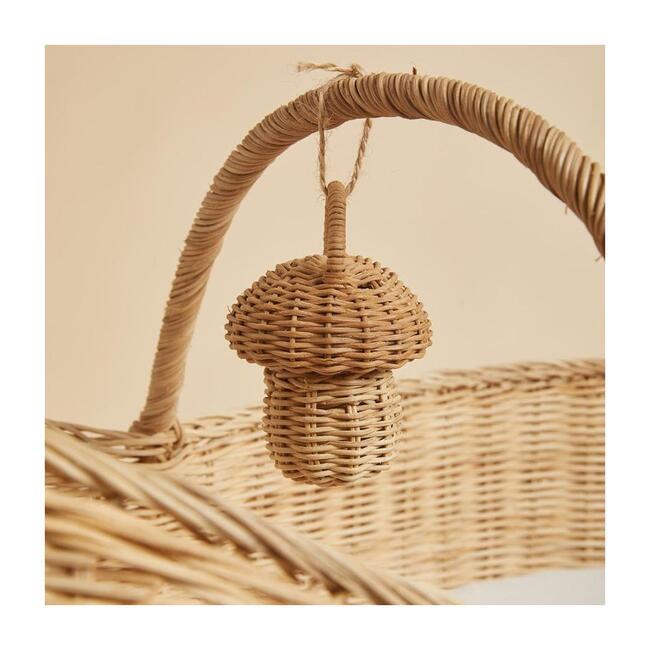 Mushroom Rattan Rattle, Natural