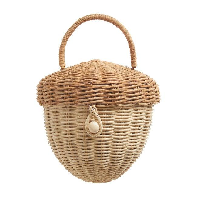 Acorn Rattan Bag, Natural