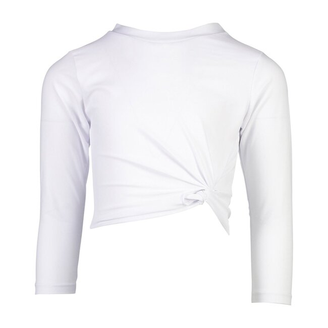 Sustainable White Long Sleeve Wrap Crop Top
