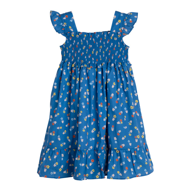 Daria Dress, Blue Flower Pots - Dresses - 1 - zoom