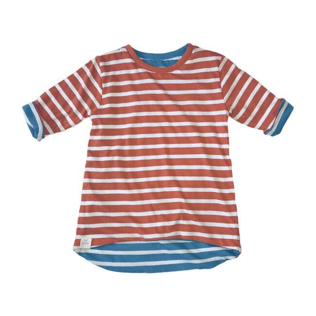 Reversible 3/4 Sleeve Tunic, Stripes - Tunics - 1