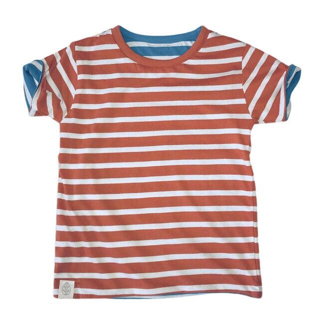 Reversible Short Sleeve Tee, Stripes - Tees - 1
