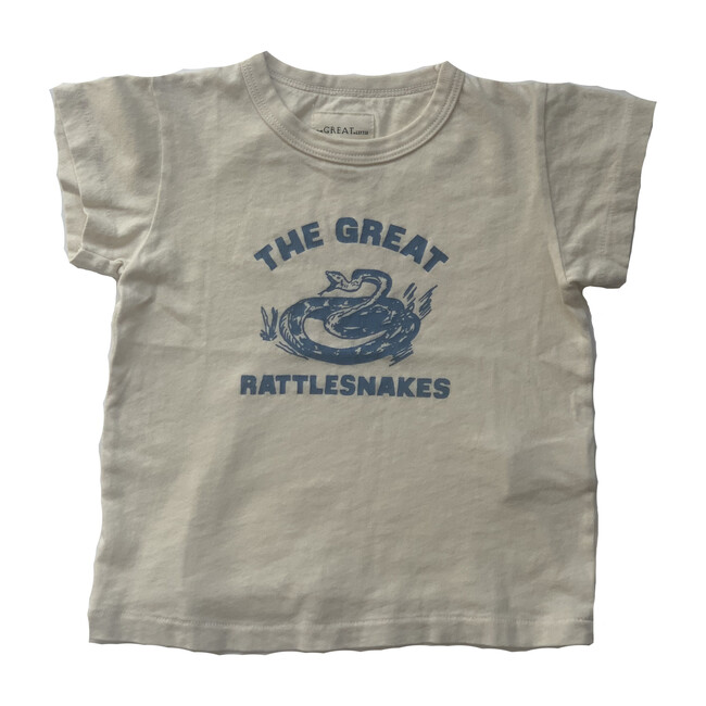 The Little Boxy Crew, Washed White with Rattlesnake Graphic