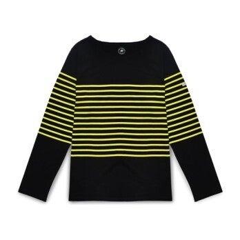 Women's Pablo, Black & Neon Yellow