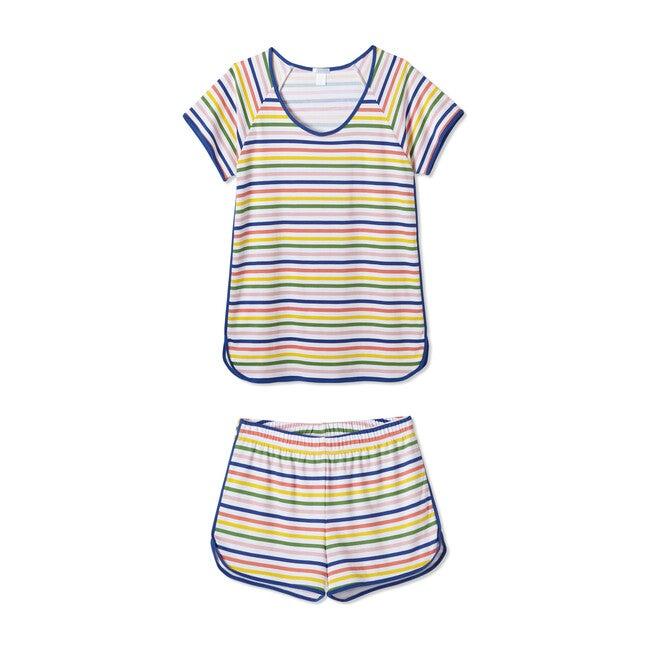 *Exclusive* Women's Shorts Set, Maisonette Stripe - Pajamas - 1