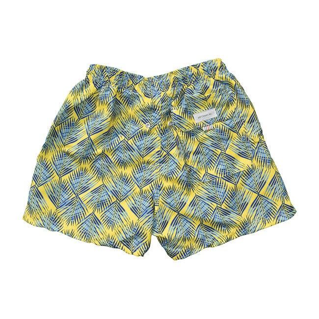 *Exclusive*Men's Swim Trunks, Palma Print