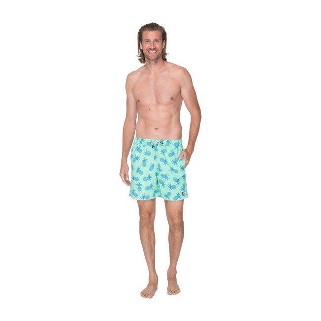 Men's Pineapple Swim Shorts, Green