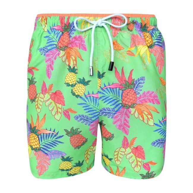 Janeiro Mens Swim Trunks, Neon Green