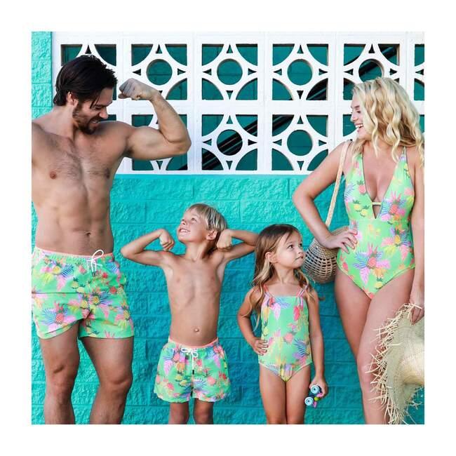 Janeiro Girls One Piece Swimsuit, Neon Green