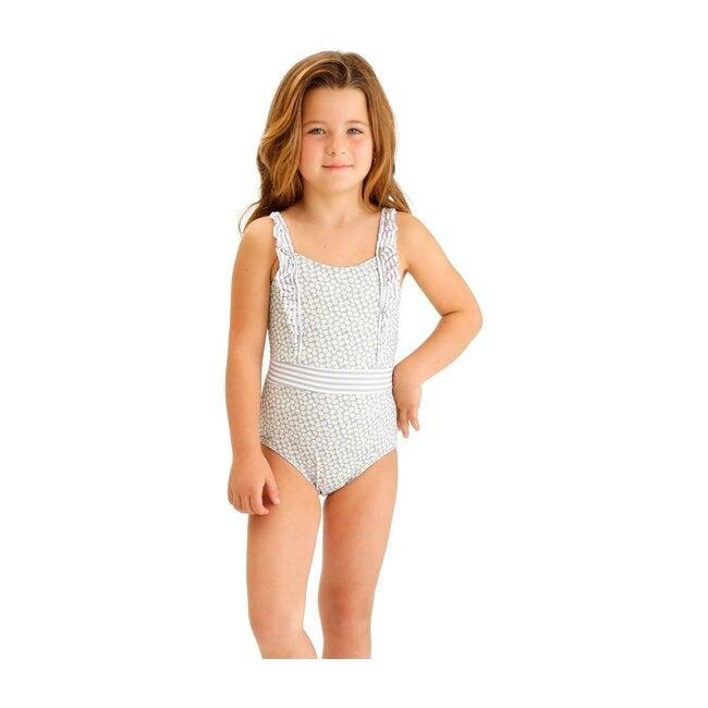 Gray Dasies Girls One Piece Swimsuit