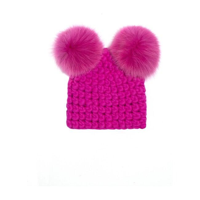 Mickey Pom Hat, Magenta - Hats - 1