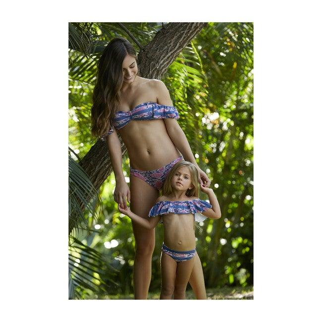 Mia Bikini Top, Pink and Blue