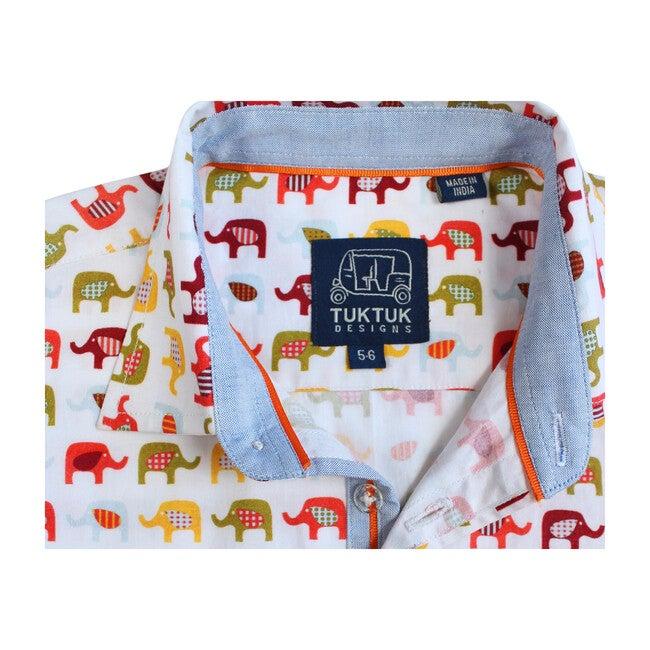 Short Sleeve Eastern Elephants, Multi