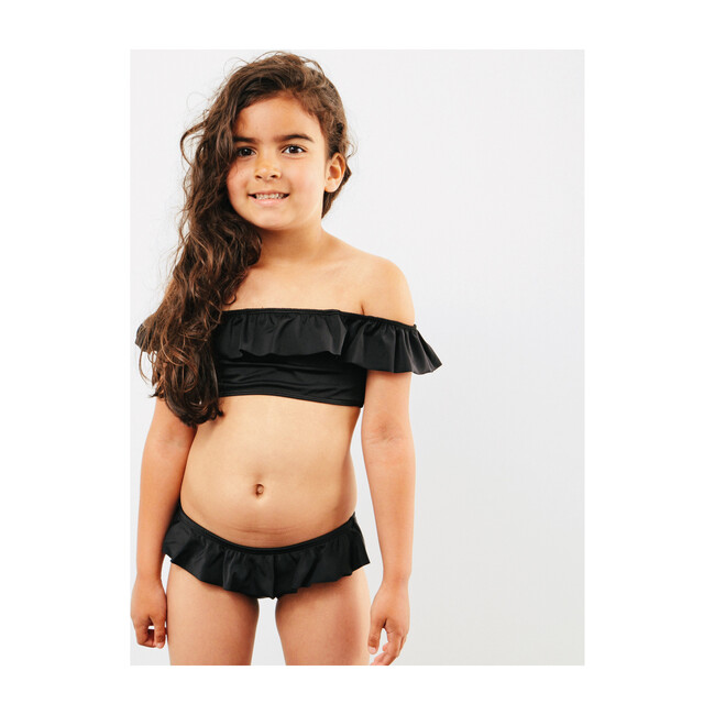 Luna Ruffle Bikini, Black