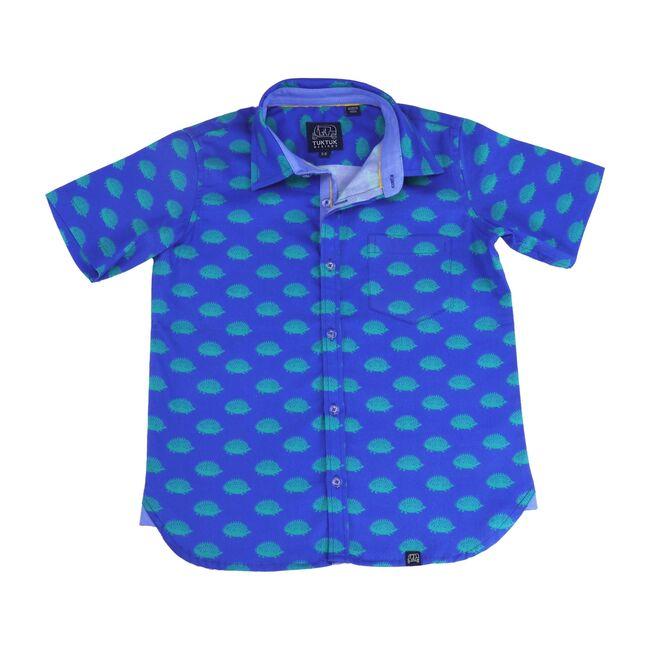 Hedgehog Short Sleeve Shirt, Blue