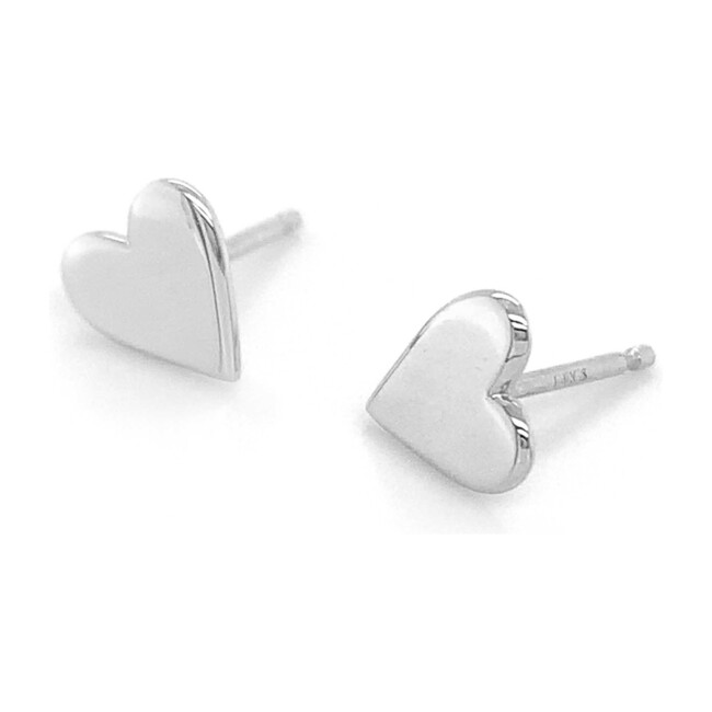 Sterling Silver Perfectly Imperfect Heart Studs