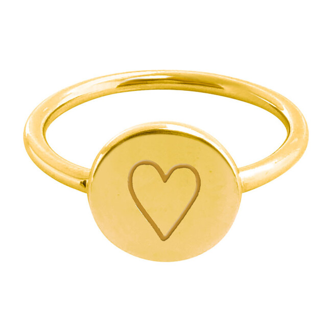Gold Perfectly Imperfect Heart Signet Ring