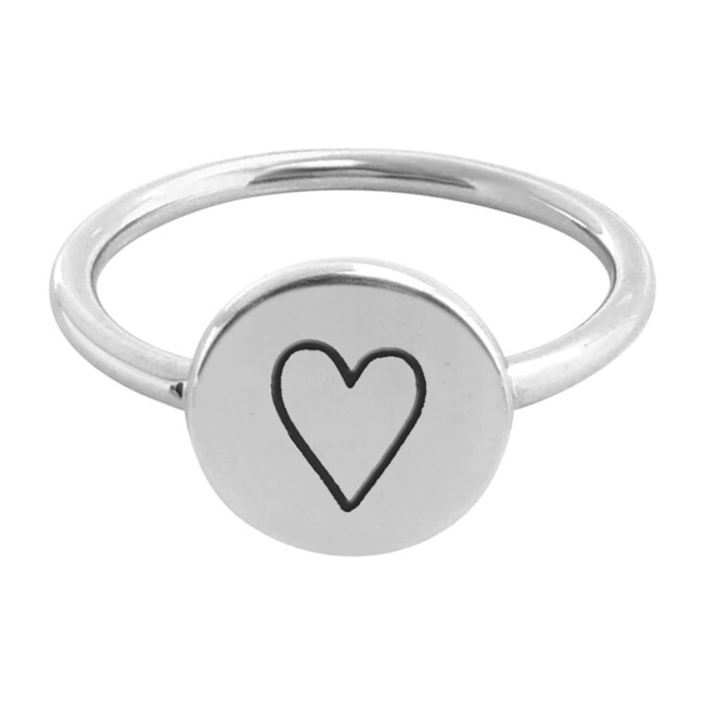 Sterling Silver Perfectly Imperfect Heart Signet Ring