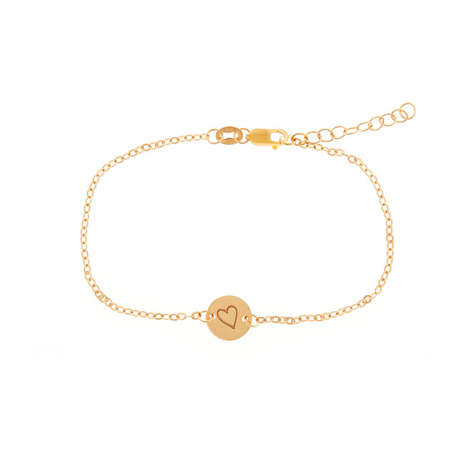 Gold Perfectly Imperfect Heart Chain Bracelet