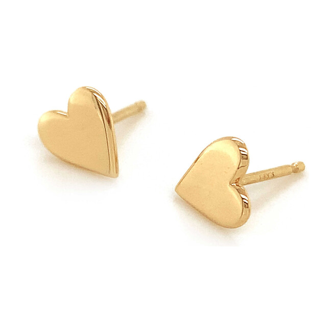 Gold Perfectly Imperfect Heart Studs