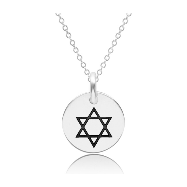 Sterling Silver Dainty Star of David Necklace
