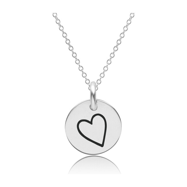Sterling Silver Perfectly Imperfect Dainty Heart Necklace