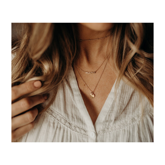 Gold Perfectly Imperfect Dainty Heart Necklace
