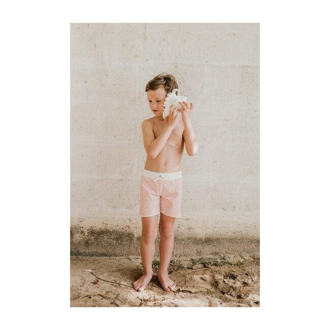 Tommaso Swim Trunks, Scale Pink Print