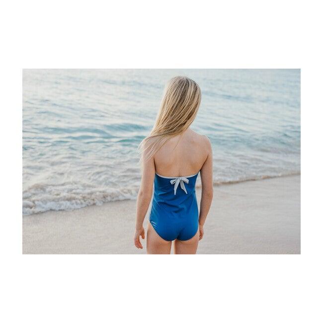 Olivia Swimsuit, Cobalt And Cloud Grey